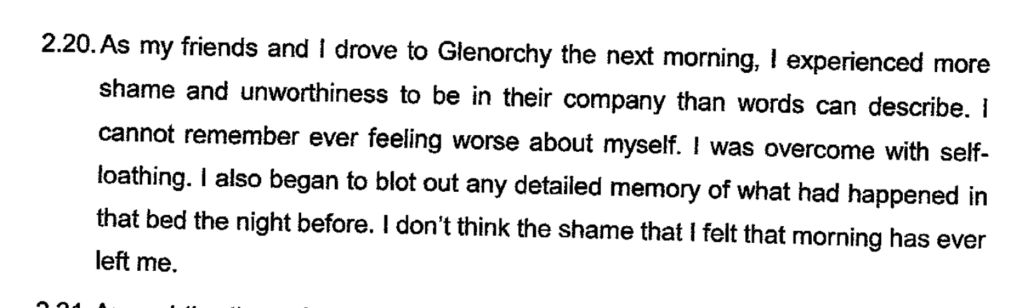 Witness Statement of Vincent T. Reidy to The Royal Commission of Inquiry into Abuse in Care