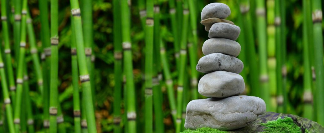 Peer support is balancing stones.